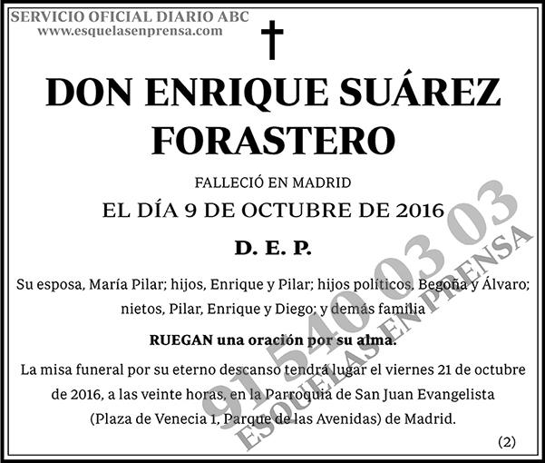 Enrique Suárez Forastero